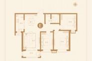 5#E户型三室两厅一卫109㎡