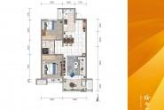A户型两室两厅一卫88㎡
